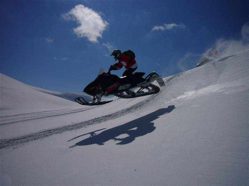 polish mountains snowmobiling