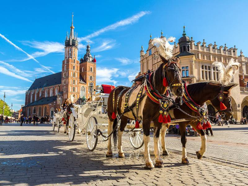 a picture of Krakow market square