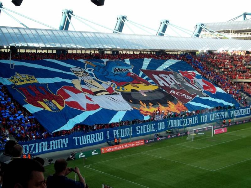 picture showing wisla krakow ultras
