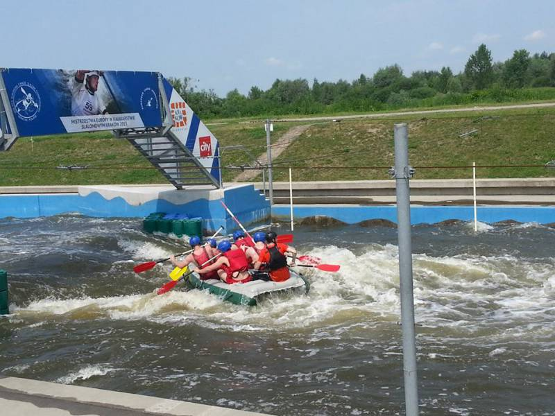 white water rafting track in Krakow