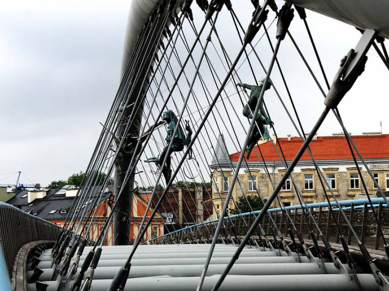 Krakow footbridge