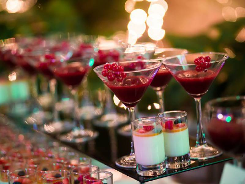 image showing colourful cocktails and shots