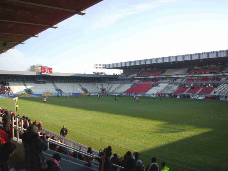 a picture of cracovia stadium