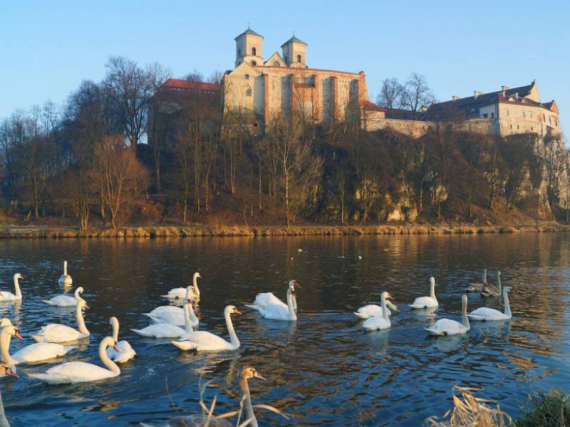 tyniec monastery view from the river