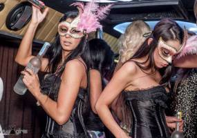 Strip Partybus city cruise with VIP nightclub entry