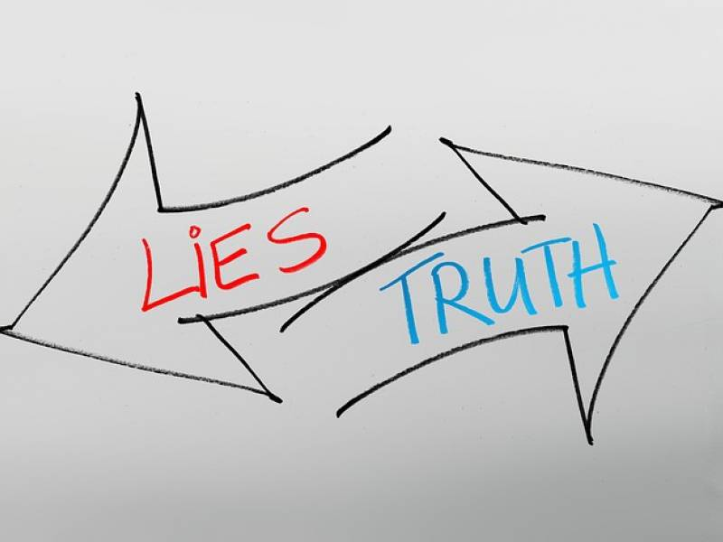 truth or lie sign